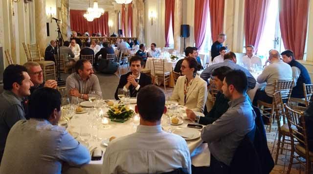 GE dinner at Frame 6FA end user meeting