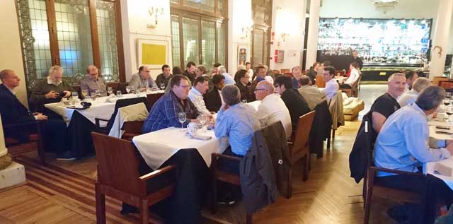 Dinner with compliments of Sulzer at the Frame 6FA end user meeting